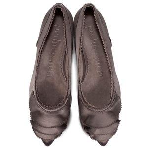 Pedro Garcia Albany ruffled pointed toe flats